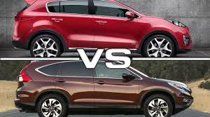compare honda crv and hyundai tucson kia sportage vs honda cr v