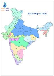 India On Map by Basins
