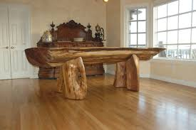dining tables s driftwood base dining table round natural dark