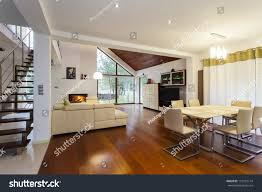 Modern Hous by Ground Floor Modern House Wooden Floor Stock Photo 119752714