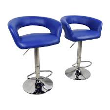 blue leather swivel chair 79 off all modern all modern blue leather adjustable height