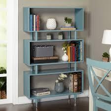 simple living margo mid century 3 shelf bookshelf free shipping