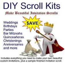 diy scroll invitations scroll invitation 50 kit for invitation by inkcurves