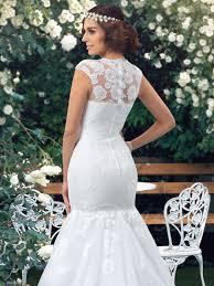 Cap Sleeved Crepe Sheath Wedding Dress David U0027s Bridal 100 Wedding Dresses Near Me Style D1617 Dress Me Pretty