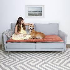 Plastic Sofa Slipcovers Plush Velvet Sofa Topper In Tea Rose The Lounging Hound