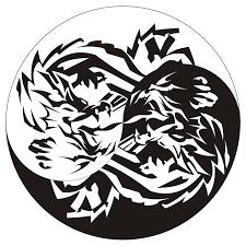yin yang tiger graphic