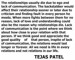 Inspirational Quotes About Love And Relationships by Quotes About Understanding Relationships Tejas Patel About