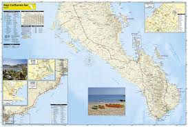 Cabo Map Southern Baja California Mexico Adventure Map National