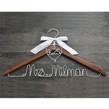 personalized wedding hangers hanger with heart and date for your wedding wedding hanger