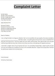 Formal Complaint Letter Against An Employee formal complaint letter formal business complaint complaint letters
