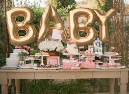 gold baby shower baby shower balloon kit includes 4 balloons