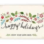 Holiday Business Cards Holiday Business Cards Traditional Holiday Cards Harrison