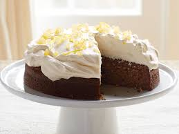 lemon ginger molasses cake with whipped cream recipe molasses