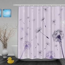 Shower Curtain Beach Theme Stall Fabric Shower Curtains Two Support Brown Wooden Storage