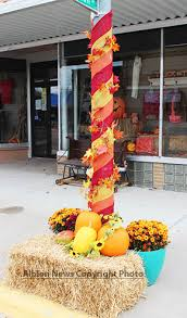 pole decorations businesses decorating for fall albion news