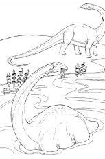 coloriage dinosaure diplodocus