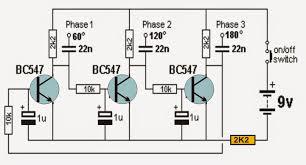 transistorized 3 phase signal generator circuit доска