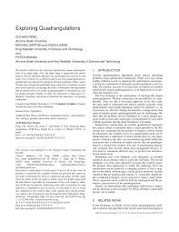 exploring quadrangulations pdf download available
