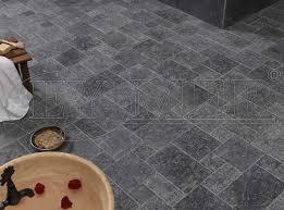 indoor tile floor marble matte black marble tumbled eymer