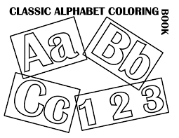 file classic alphabet cover coloring pages kids boys dotcom