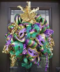 mardi gras wreaths mardi gras door decoration garland and wreath from deco mesh