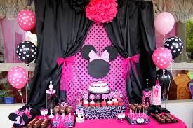minnie mouse birthday decorations minnie mouse birthday theme minnie black and pink