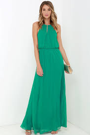 necklace dress images Lovely green dress maxi dress necklace dress 75 00 jpg