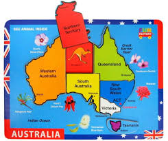 map of austrailia australia map chunky puzzle at my wooden toys