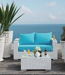 2 piece caribbean white wicker outdoor pe rattan wicker patio