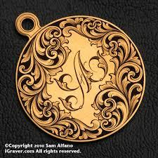 Engraved Pendant Sam Alfano Engraver Jewelry Engraving