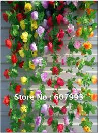 Artificial Flower Decoration For Home Aliexpress Com Buy Faux Silk Ivy Artificial Fabric Leaves Vine