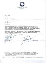 Tax Letter For Donation Testimonials