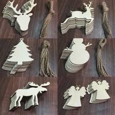 wood christmas ornaments ebay