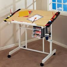 Simple Drafting Table Desk With Wheels U0026 Casters You U0027ll Love Wayfair