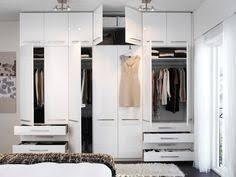 link to blog to see the process of using ikea pax wardrobe closets