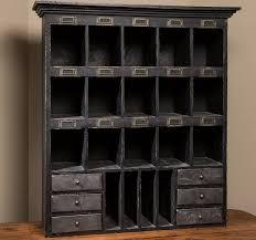vintage mail sorter wooden desk organizer cubby shelf antique