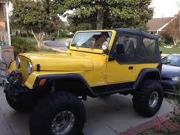 cj jeep yellow jeep cj7 u2013 heavily modified trail rig
