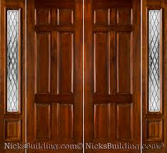 wood front door architecture wood entry door with sidelights without handle