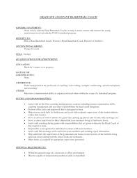 Coaching Resume High Basketball Coach Resume Resume Examples 2017