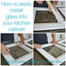 Glass Cabinet Kitchen How To Add Glass Inserts Into Your Kitchen Cabinets Kitchens