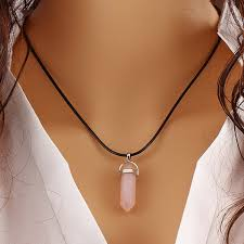 crystal rope necklace images Hot rope chain crystal quartz healing point chakra gem bead stone jpg