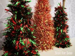 christmas tree tinsel 5 minute tinsel christmas cones how to nest for less