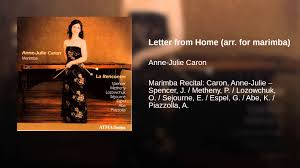 letter from home arr for marimba youtube