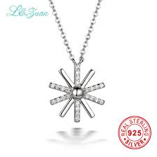 sted necklace i zuan brand luxury 925 sterling silver necklace 0 3ct trendy