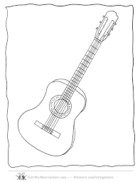 guitar coloring pages acoustic guitar at www fret no more guitars