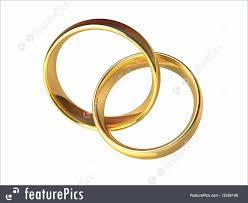 wedding rings together celebration gold wedding rings together stock illustration