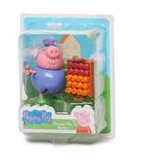 amazon com world of peppa pig champion daddy pig u0026 trophy toys