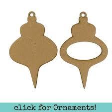 chipboard ornament frame set days by