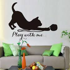 popular funny sticker quotes buy cheap funny sticker quotes lots cat play with me vinyl wall stickers quote cats funny removable waterproof murals decals for kids