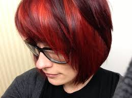 short and long black hair with red highlights hairstyles